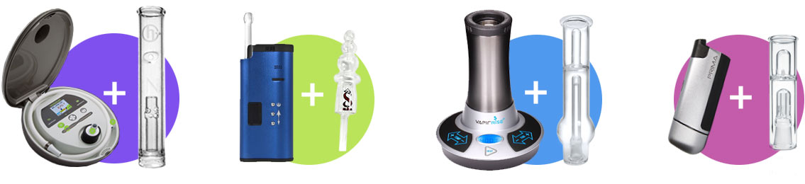 Vaporizers with glass bubblers